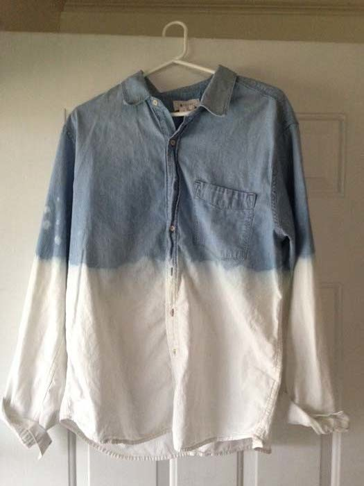 dye old shirts to look cool