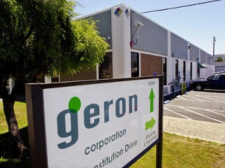 the sign for geron corp stem cell company