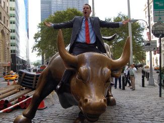 tim sykes is riding the wall street bull